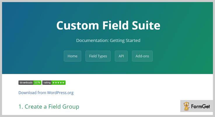 Custom Field Suite Custom Field WordPress Plugin