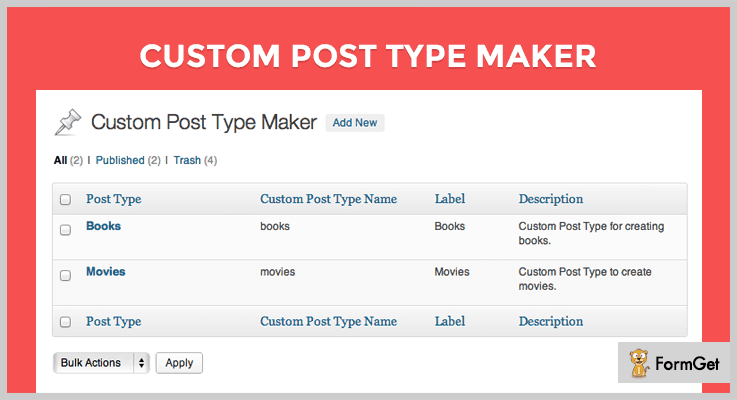 Custom Post Type Maker Custom Post Types WordPress Plugin
