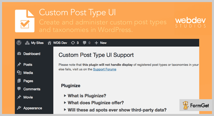 Custom Post Type UI Custom Post Types WordPress Plugin