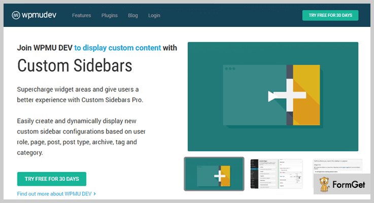 Custom Sidebars Widget WordPress Plugin