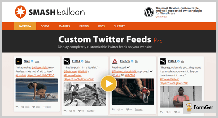Custom Twitter Feeds WordPress Twitter Feed Plugin