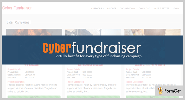 Cyber Fundraiser WordPress Fundraising Plugins