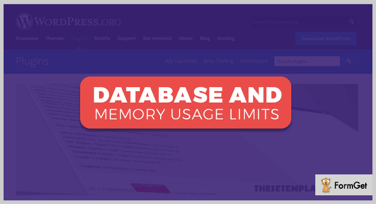 Database And Memory Usage WordPress Memory Usage Plugin