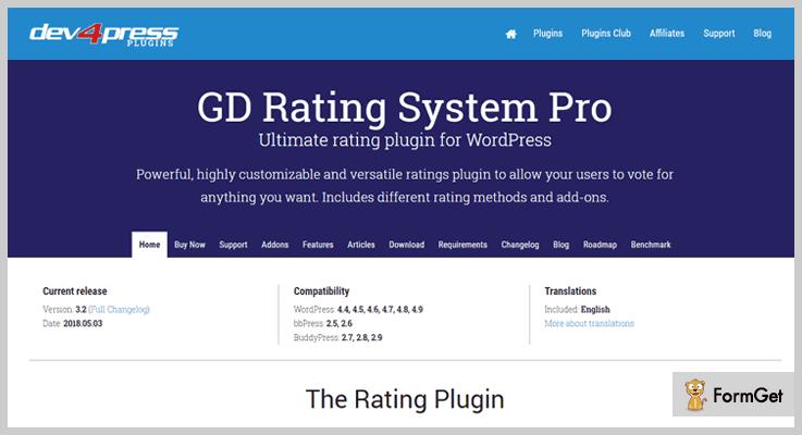 Dev4Press Rating WordPress Plugin