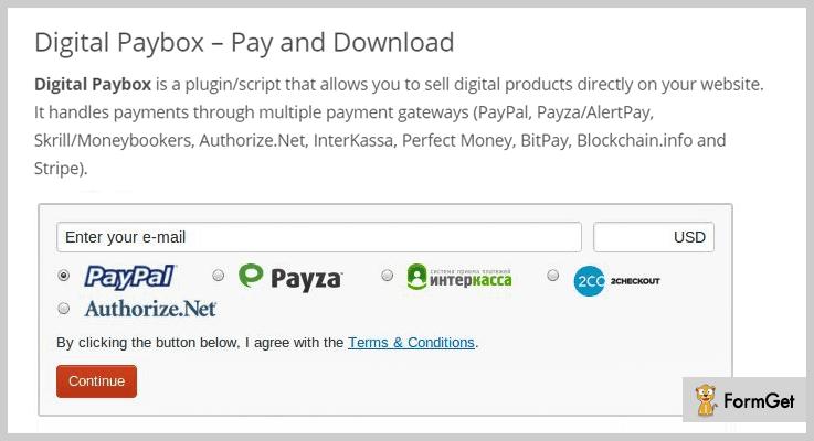 Digital Paybox Bitcoin WordPress Plugin