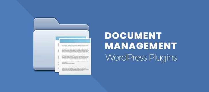 Document Management WordPress Plugins