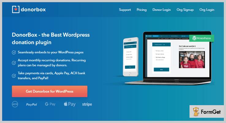 Donor Box WordPress Fundraising Plugins
