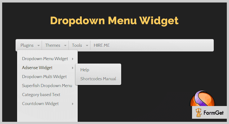 Dropdown Menu Widget WordPress Drop Down Menu Plugin