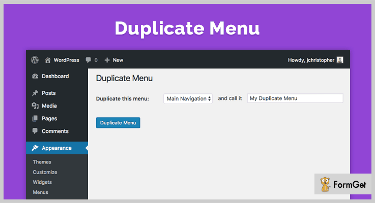 Duplicate Menu WordPress Duplicate Plugin