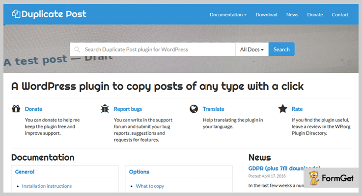 Duplicate Post WordPress Duplicate Plugin