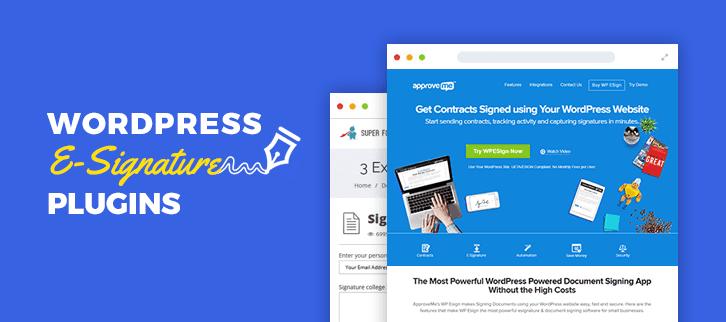 WordPress E-Signature Plugins
