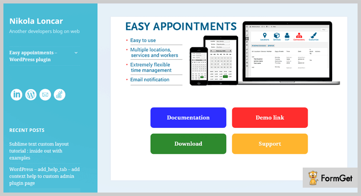 Easy Appointment WordPress Plugin