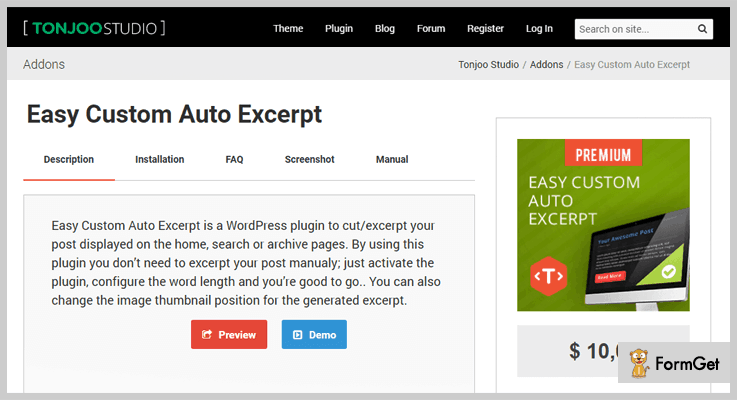 Easy Custom Auto Excerpt WordPress Excerpt Plugin
