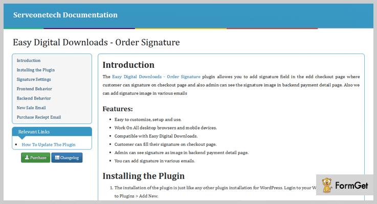Easy Digital Downloads WordPress E-Signature Plugins