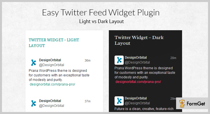 Easy Twitter Feed Widget Plugin WordPress Twitter Feed Plugins
