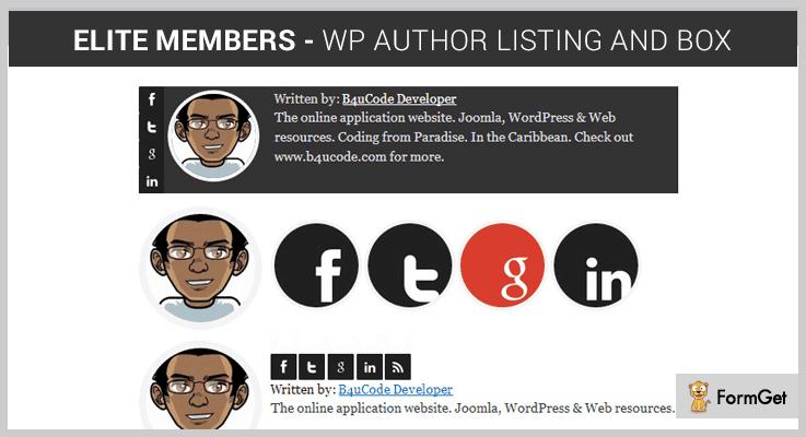 Elite Members Author Profile WordPress Plugin