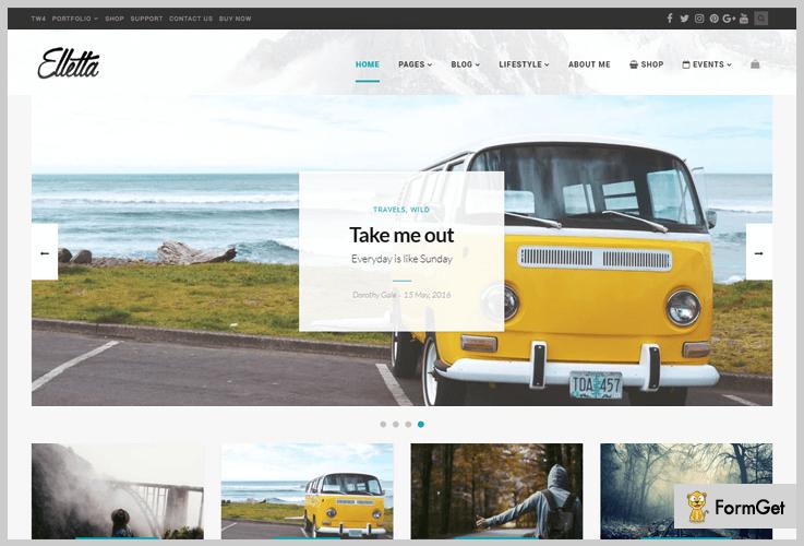 Elletta Calendar WordPress Themes