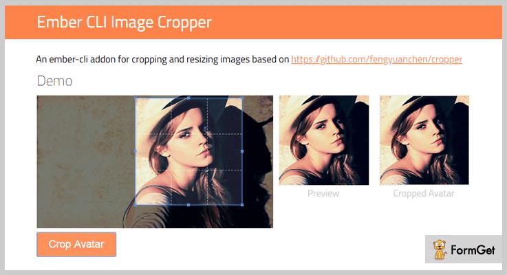 Ember CLI jQuery Image Crop Plugin