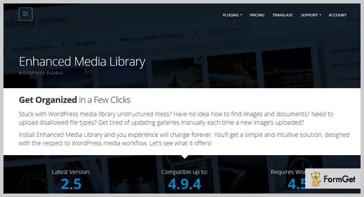 Enhanced Media LibraryWordPress Media Library Plugin