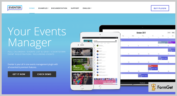 Eventer Event Manager WordPress Plugin