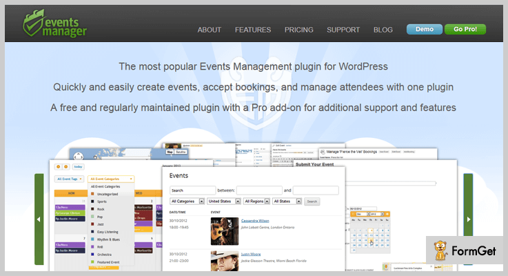 Events Manger Pro Event Manager WordPress Plugin