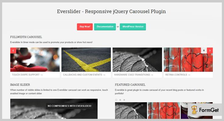 Everslider jQuery Carousel Plugin