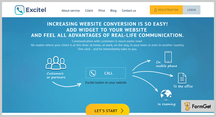 Excitel Click To Call WordPress Plugin