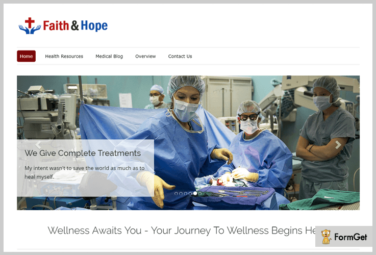 Faith & Hope Hospital WordPress Theme