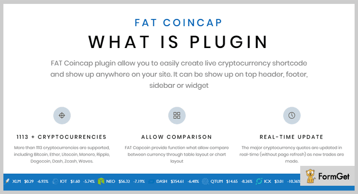 FAT Coincap Cryptocurrency WordPress plugin