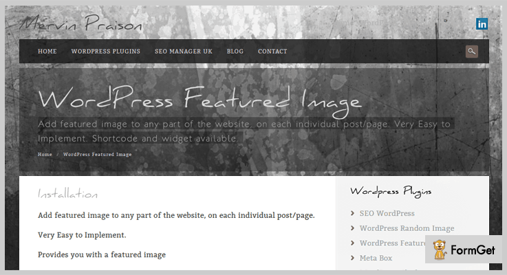 Featured Image Plugin Featured Image WordPress Plugin