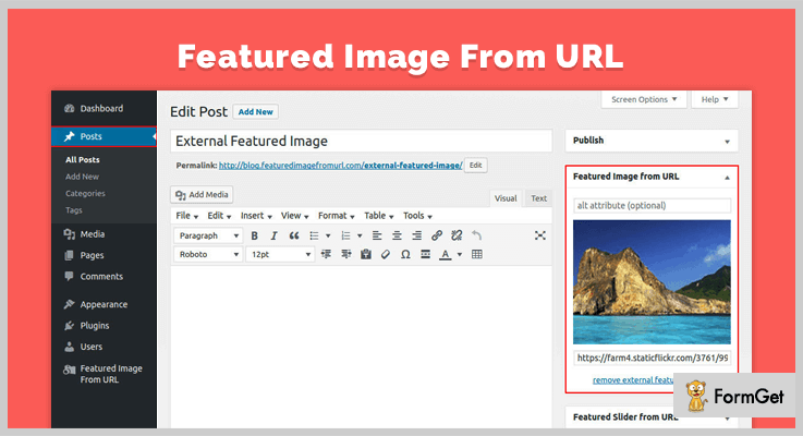 Featured Image From URL Featured Image WordPress Plugin