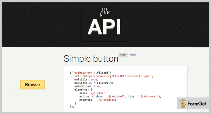 FileAPI jQuery File Upload Plugin