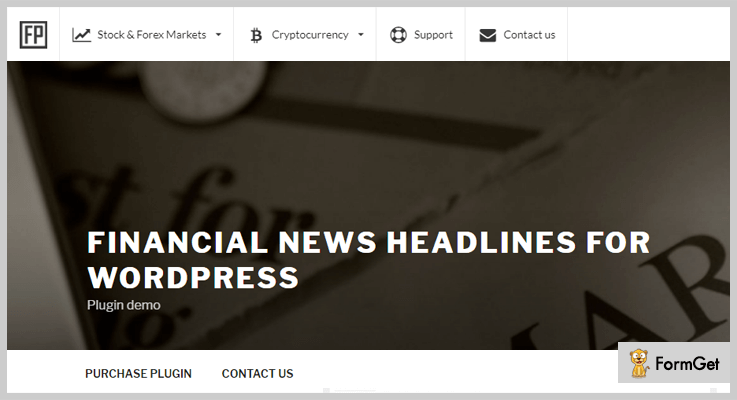 Financial News Headlines News WordPress Plugins