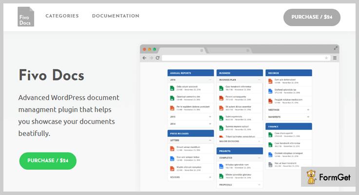 Fivo Docs Document Management WordPress Plugin