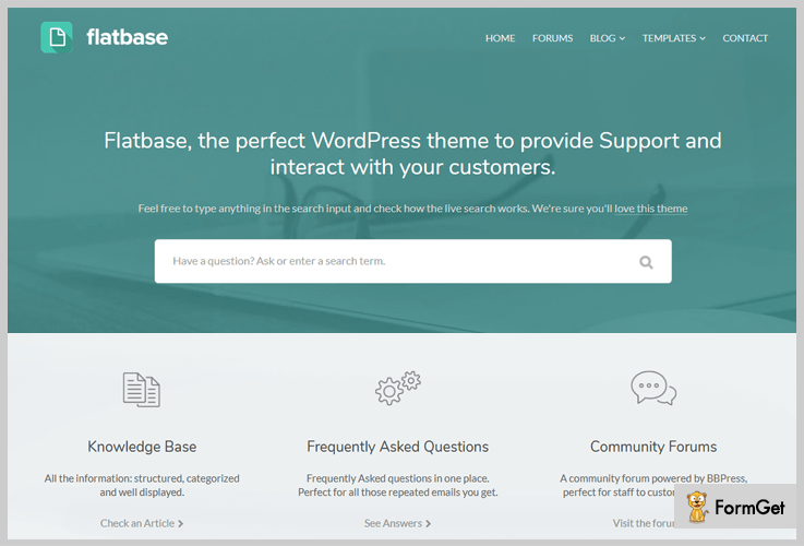 FlatBase Wiki WordPress Theme