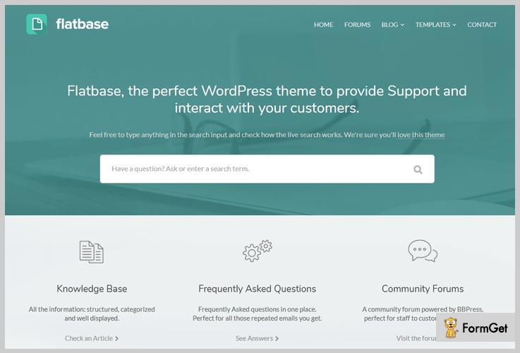 FlatBase Wiki WordPress Theme