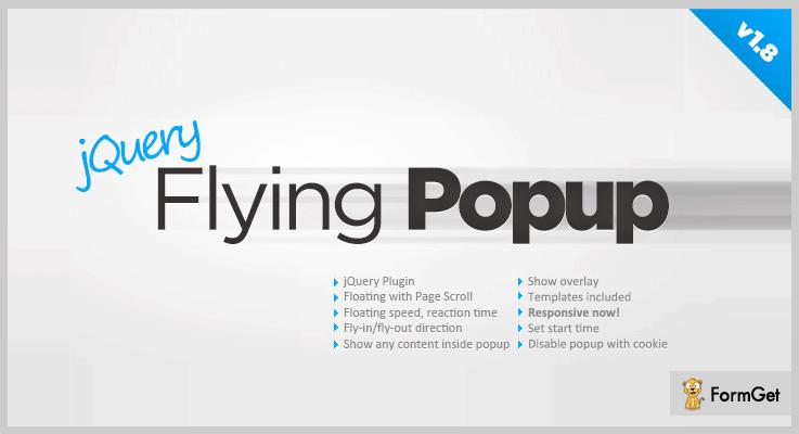 Flying Popup jQuery Popup Plugin