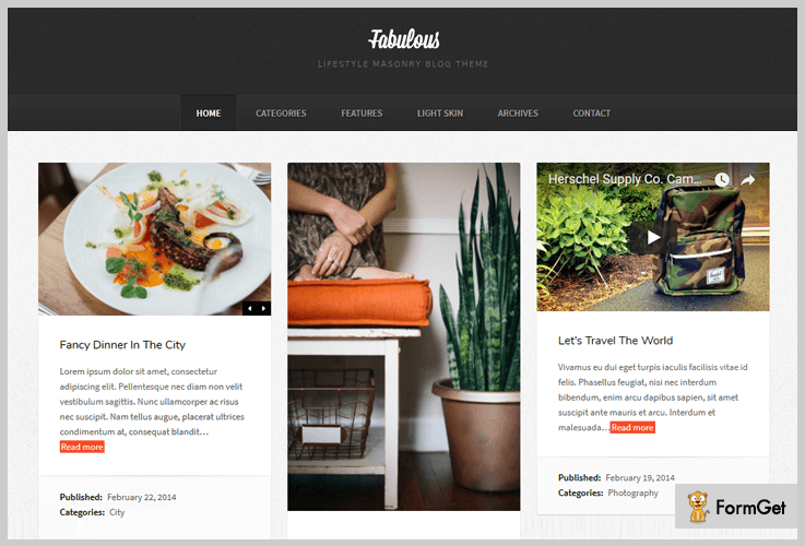 Fabulous Masonry WordPress Theme