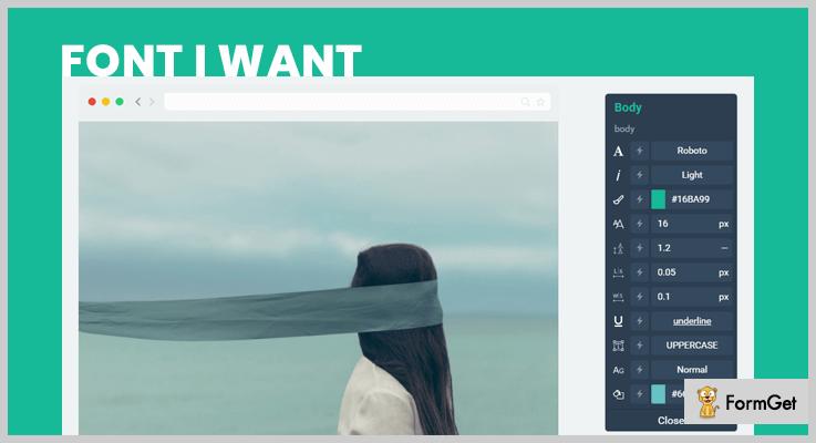 Font I Want WordPress Typography Plugin