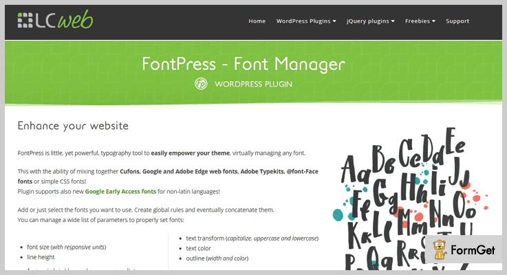 FontPress WordPress Typography Plugin