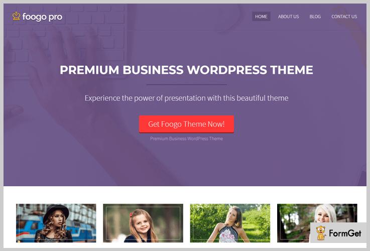 Foogo Pro Bootstrap WordPress Theme