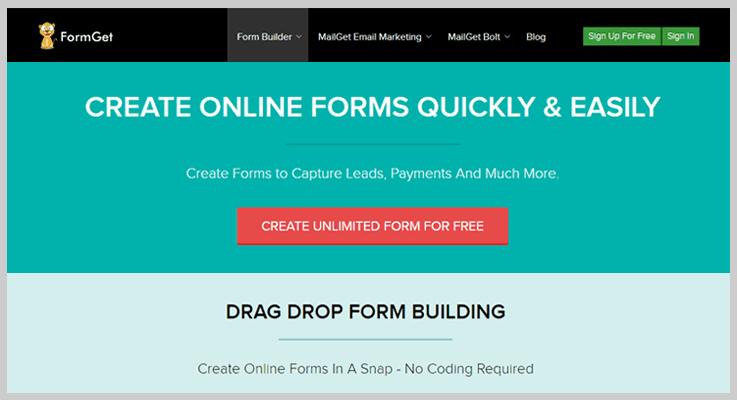 FormGet Contact Form WordPress Plugins