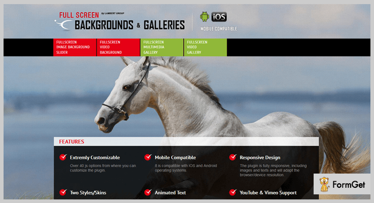 FullScreen Background /Gallery jQuery Plugin