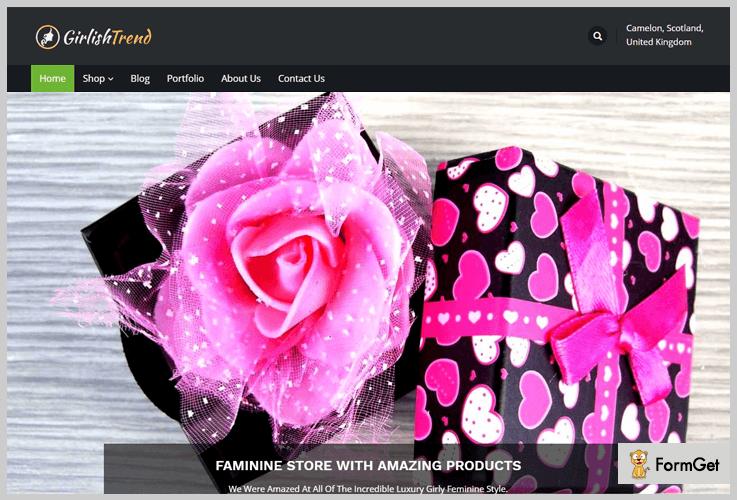 GirlishTrend Girly WordPress Theme