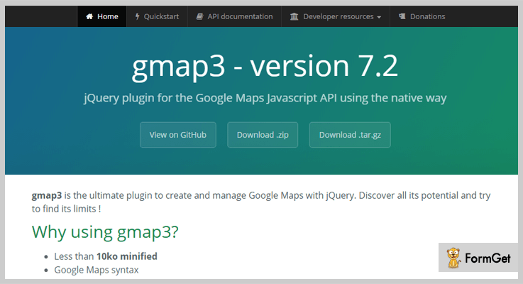 gmap3 jQuery Google Map Plugin