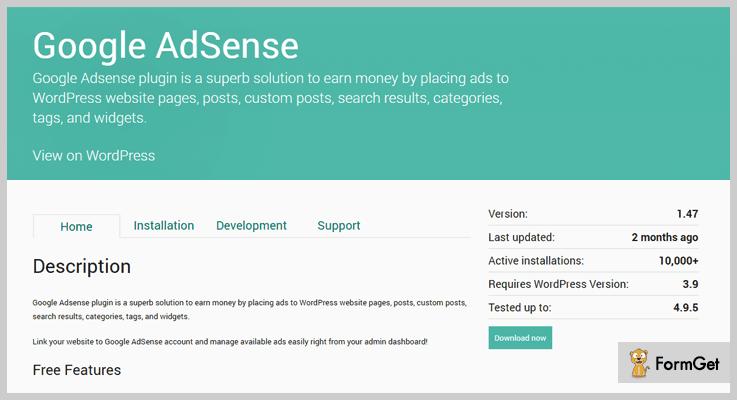 Google AdSense AdSense WordPress Plugin