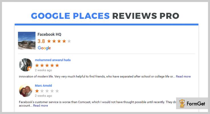 Google Places Reviews Pro Google Reviews WordPress Plugin