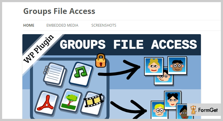 Groups File Access WordPress Accessibility Plugin