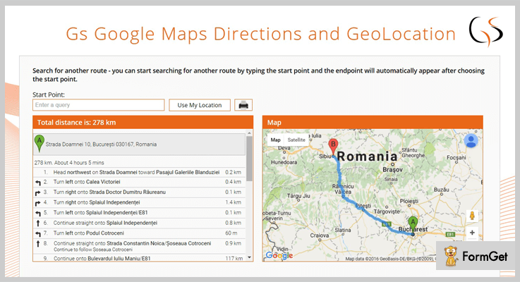 GS Google Maps Directions jQuery Google Map Plugin