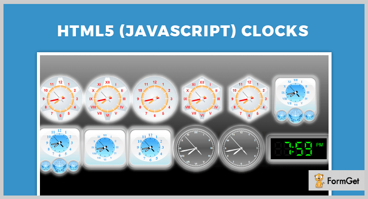 HTML5 JavaScript Clocks jQuery Clock Plugins